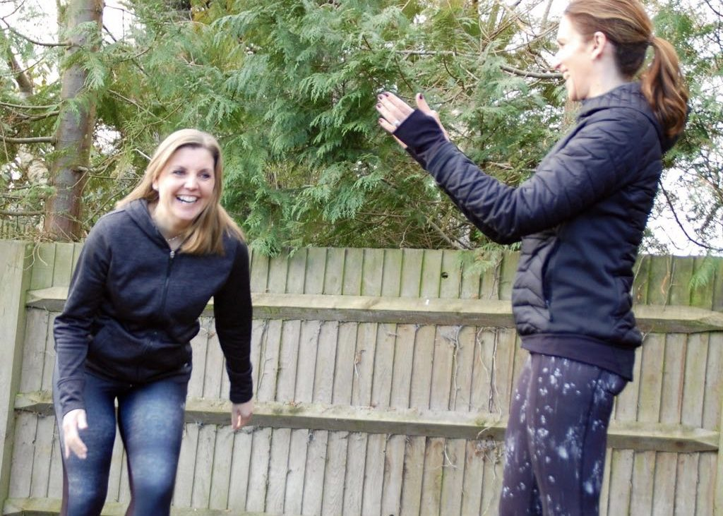 Helen Mason in a one to one personal training session