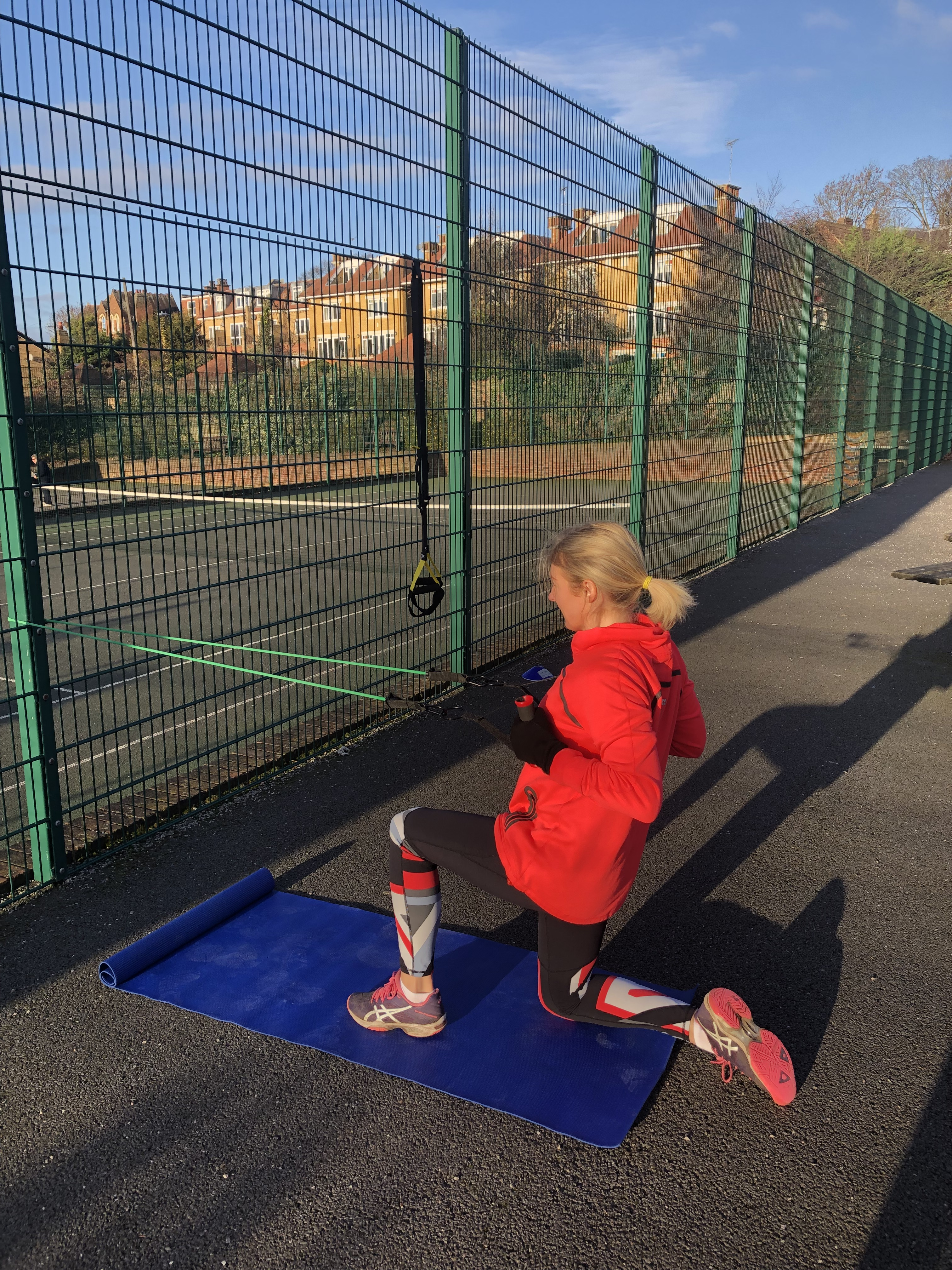 Resistance band exercise for posture